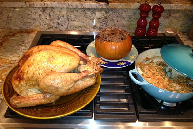Thanksgiving meal made by the Q Morning Show at Lori's house