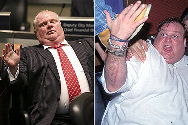 Toronto Mayor Rob Ford and Chris Farley