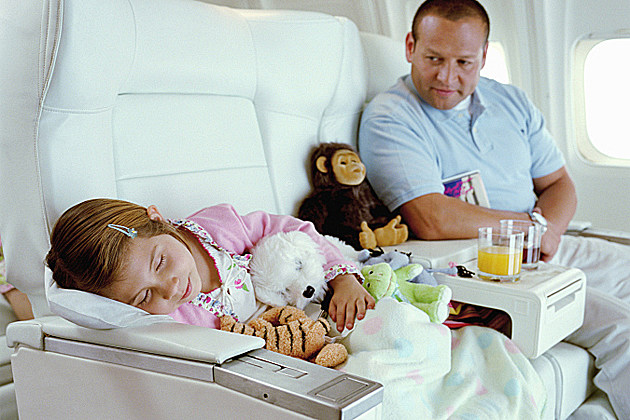 Sleeping Child on Plane