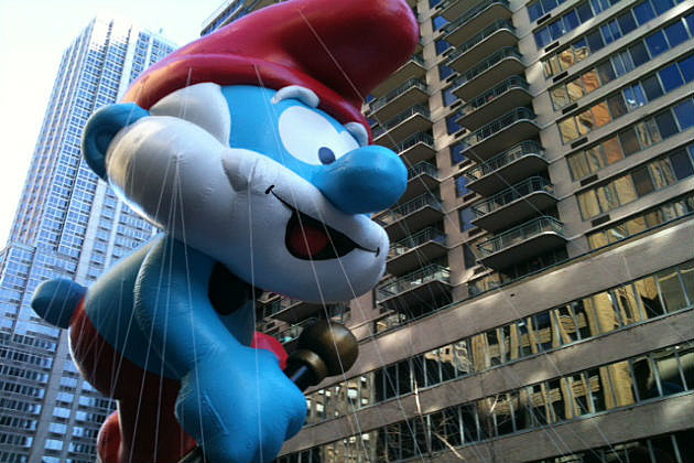 Papa Smurf balloon at the Macy Day parade