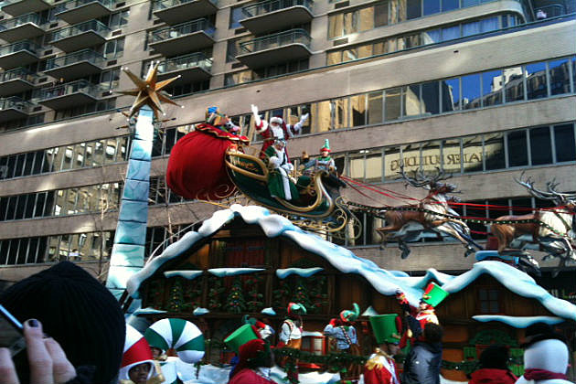 Santa!  The last float of the Macy Day Parade