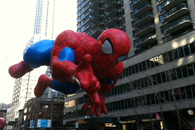 Spider Man float at the Macy Day Parade