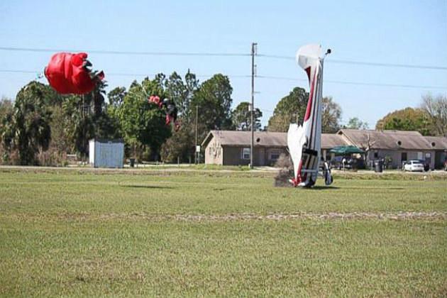 Skydiver and plane collide  Credit Tim Telford