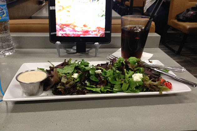 salad at Minneapolis airport