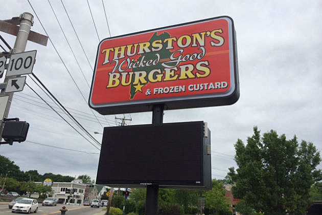Thurston's Wicked Good Burger sign