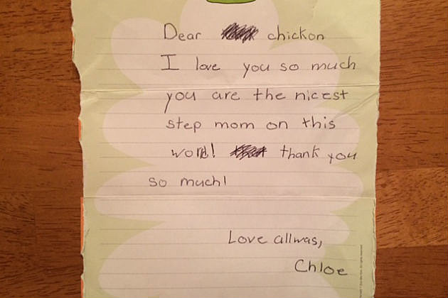 Chloe's camp letter to Lori