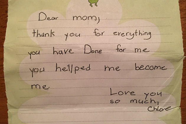 Chloe's camp letter to mom