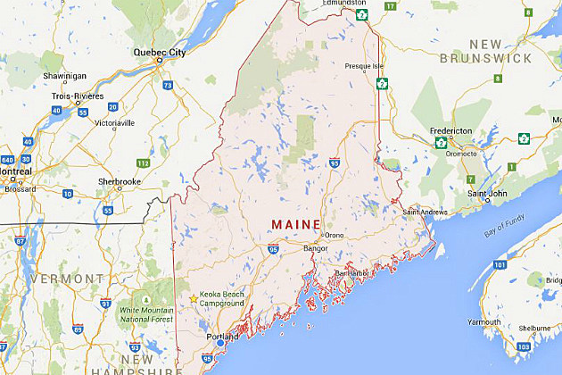 Maine Map Us - State of maine map