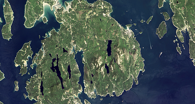 NASAs Photo Of The Day Is Acadia National Park From Space - Us map day nasa