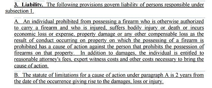 Liabilty Firearms Bill