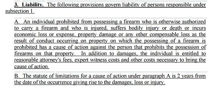 Liabilty Firearms Bill