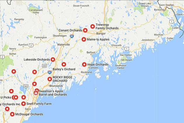 This Interactive Map Will Help You Plan Your Maine Apple Picking - Google maps maine