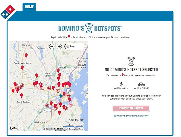 Domino's Offering Public Places in Portland To Deliver Your Pizza on dominos printable menu, dominos fundraiser form, dominos hours, dominos pizza menu,